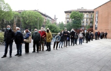 People pay respect to Italian singer Milva at her funeral in Milan